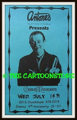 "BLUES CHARLIE MUSSELWHITE- MINI-POSTER PRINT 7"" x 5"""