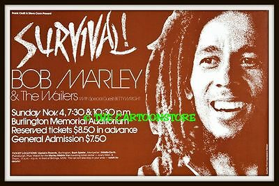 "BOB MARLEY AND THE WAILERS, SURVIVAL- MINI-POSTER PRINT 7"" x 5"""