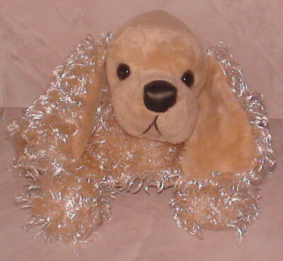 "Stuffed Curly Champagne Plush American Cocker Spaniel Dog Ganz Webkinz 5.5"" High"