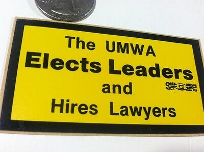 United Mine Workers Of America Leaders Coal Mining Sticker Decal Advertising