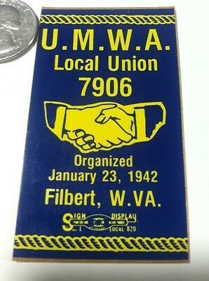 United Mine Workers Of America Local Union Coal Mining Sticker Decal Advertising