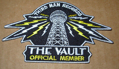 THIRD MAN RECORDS Vault Member Iron-On Patch New Jack White Stripes lazaretto