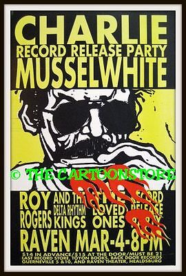 "CHARLIE MUSSELWHITE, ROY ROGERS- MINI-POSTER PRINT 7"" x 5"""