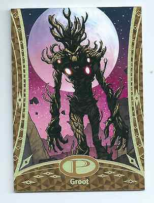 2014 Marvel Premier gold base card 36 Groot 17/25