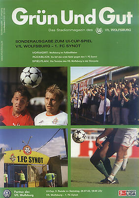 UI-Cup 26.07.2003 VfL Wolfsburg - 1. FC Synot, InterToto Cup