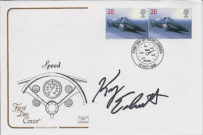 Kerry EARNHARDT Signed Autograph FDC First Day Cover COA AFTAL NASCAR Driver USA