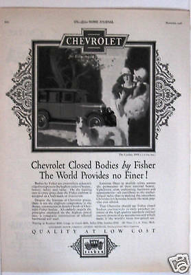 Vintage Chevrolet Ad From Ladies Home Journal 1926