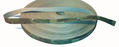 """Single Sided Crye Multicam MTP Camouflage Military Spec 25mm / 1"""" Webbing"""