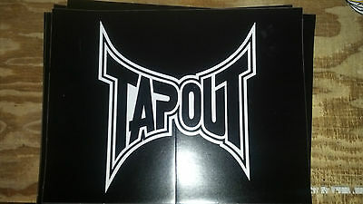 """Tapout Graphics Black 12 1/"""" X 9 1/2"""" Large Window Sticker Decal auto car truck"""
