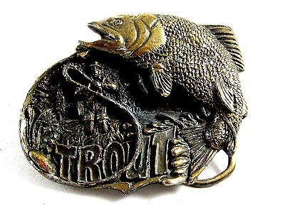 1982 Golden Trout Fish Belt Buckle by Great American Buckle Co. 82614