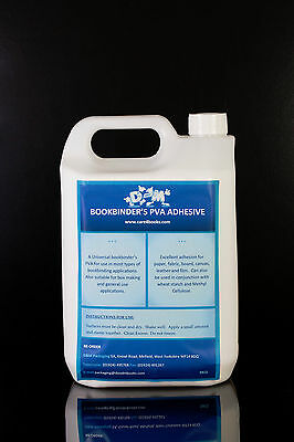 BOOKBINDER'S PVA ADHESIVE 5kg bottle bookbinding and repair glue (box making)