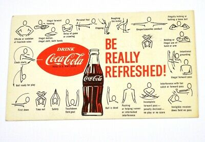 Drink Coca Cola Coke USA American Football Regel Karte 1960er