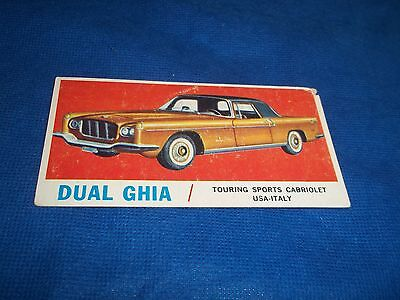 1961 Topps Sports Cars Trading Card Dual Ghia Touring Sports Cabriolet #42 LL