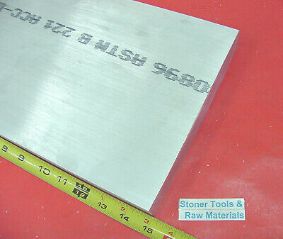 "2 pieces 1"" X 10"" ALUMINUM 6061 FLAT BAR 15"" long Solid T6511 Plate Mill Stock"