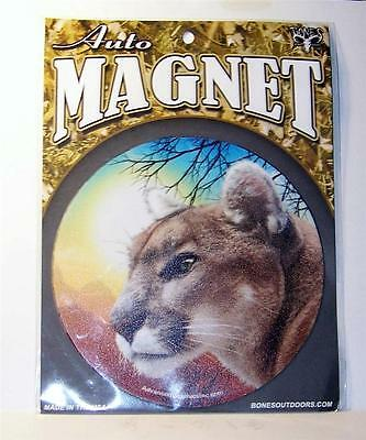 "Mountain Lion Puma Panther 5.5"" Round Car Truck Home Vinyl Magnet Gift Big Cat"