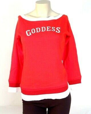 Nike Red Goddess of Victory Boat Neck 3/4 Sleeve Shirt Womans Medium M NWT