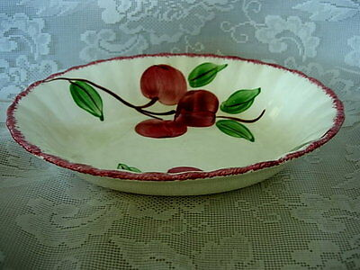 Vintage BLUE RIDGE SOUTHERN POTTERY Crab Apple Hand Painted Oval Vegetable Bowl