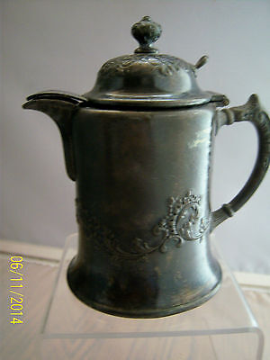ANTIQUE PAIRPOINT SYRUP PITCHER No.1727 Hinged Lid Quadruple Plate Exc.Cond.