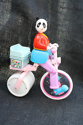 VTG RARE Electronic Musical Hard Plastic SUPER PANDA Bear PEDICAB Tricycle Toy