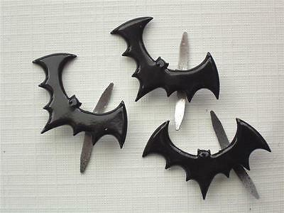 BRADS BATS pk of 6 - animal halloween scrapbooking bat black craft