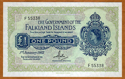 Falkland Islands, 1 pound, 1982, QEII, P-8d, UNC