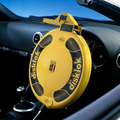 Disklok Security Small 35 - 38.9cm Yellow Disklok Steering Wheel Anti Theft Lock
