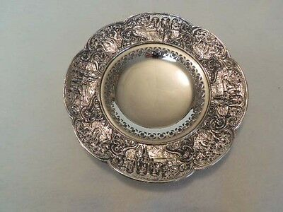Vintage Weidlich Brothers WB MFG Co #2330 Silverplate Tray Plate Figural Border