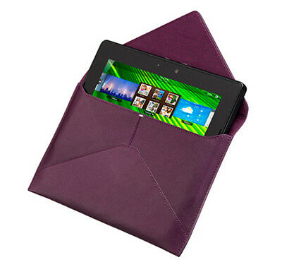 NEW Authentic Blackberry PlayBook Purple Leather Envelope Design Case Pouch