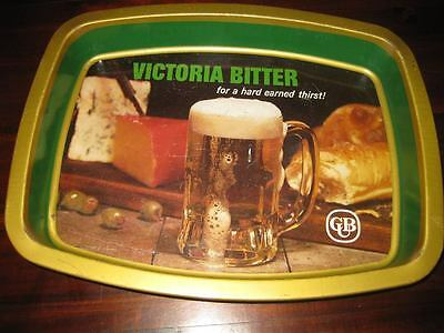 Pub tray Victoria Bitter Vintage 80s some wear and tear but in pretty good nick