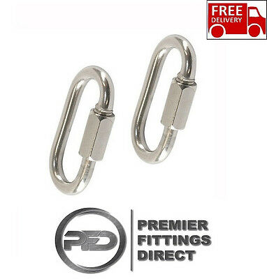 5Mm Quick Chain Repair Link (2 Pack) - 316 Stainless Steel