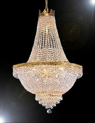 """French Empire Crystal Chandelier Lighting H36"""" X W30"""""""