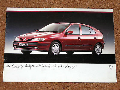 1997 RENAULT MEGANE 5 DOOR Sales Brochure - RXE, RT, RN