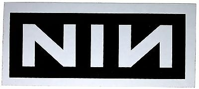Sticker Nine Inch Nails NIN Band Name Logo Reznor Industrial Rock Music Decal