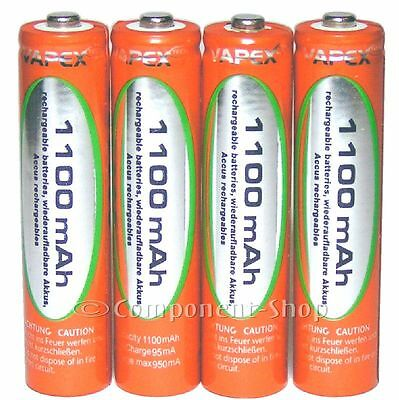 8x AAA 1100mAh NiMH rechargeable batteries WITH CASE