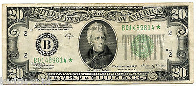 1934-B $20 Federal Reserve Star Note - New York Currency - USU KT920
