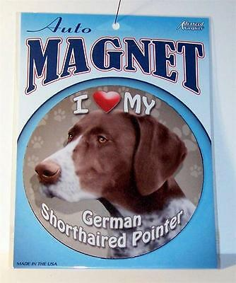 "I Love My German Shorthaired Pointer Dog 5.75"" Car Truck Fridge Round Magnet"