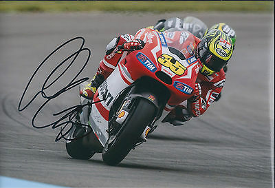 Cal CRUTCHLOW SIGNED Ducati Autograph 12x8 Photo British AFTAL COA British Rider