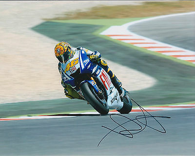 VALENTINO ROSSI Autograph SIGNED YAMAHA Photo AFTAL COA The Doctor Silverstone