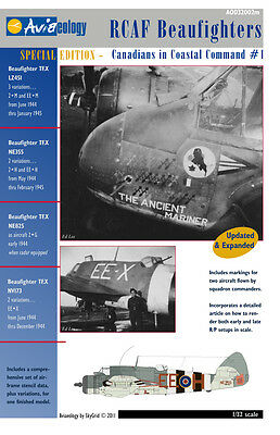 RCAF Beaufighters of 404 Sqn – CinCC1 – 1/32 scale Aviaeology Decals 'n Docs