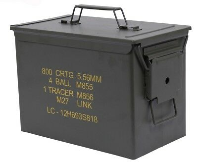 NEW Large Ammo Can Olive Drab .50 Cal Military Steel PA108 Rothco 2107