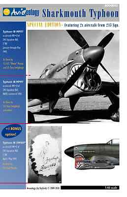 Sharkmouth Typhoon – 1/48 scale Aviaeology Decals 'n Docs