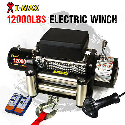 12V Wireless Steel Cable 12000LBS, 5454KGS Electric Winch ATV 4WD 4x4 Boat Truck