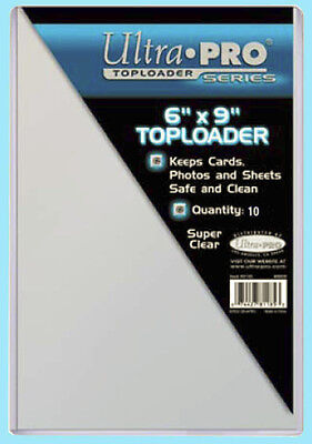 "10 Ultra Pro 6x9 TOPLOADERS NEW Photo Sports Card Collectible 6""x9"" Sleeve Rigid"