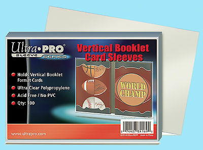 100 ULTRA PRO VERTICAL BOOKLET CARD SLEEVES NEW Soft Plastic Trading Sports