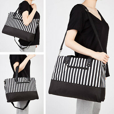 Baby Changing Bag Large Insulated Nappy Diaper Set Mummy Tote 5PCS - Black White
