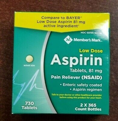 Fresh Stock Low Dose Aspirin 81mg  730 Tabs Heart  Baby 2 x 365 SIMPLY RIGHT