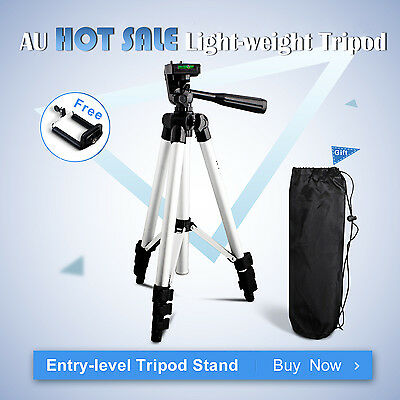 Lightweight Tripod Stand Holder for Canon Nikon Sony Camera iPhone Samsung DSLR