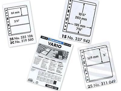 Lighthouse Vario Double Sided Black Banknote Stamp Album Pages 1S 2S 3S