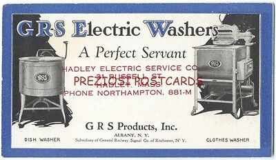 GRS ELECTRIC WASHERS BLOTTER ca1920 Dish & Clothes Washer GRS Products ALBANY NY