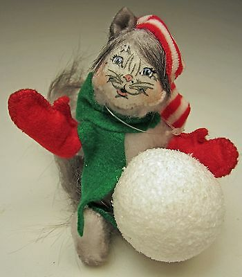 Annalee Christmas 2014 Mobility 4 inch Snowball Kitty Oh Expression No. 750014
